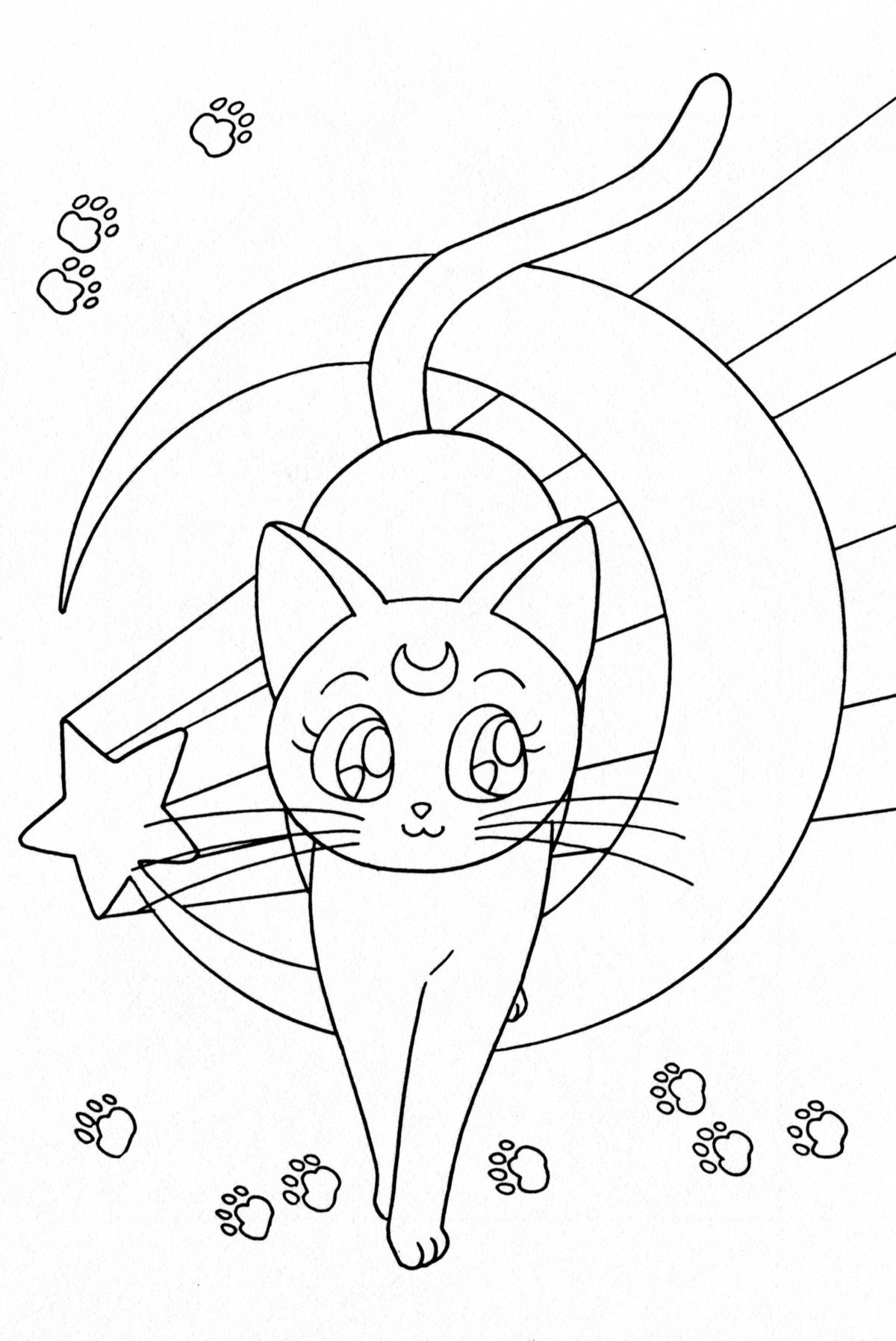 Cats014 Jpg 1200 1796 Moon Coloring Pages Sailor Moon Tattoo