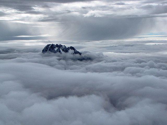 in thE cLouds, Mawenzi Peak, Kilimanjaro Summit, Tanzania, Michael Mellinger