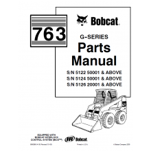 Bobcat 763 G-Series Skid Steer Loader Parts Manual PDF