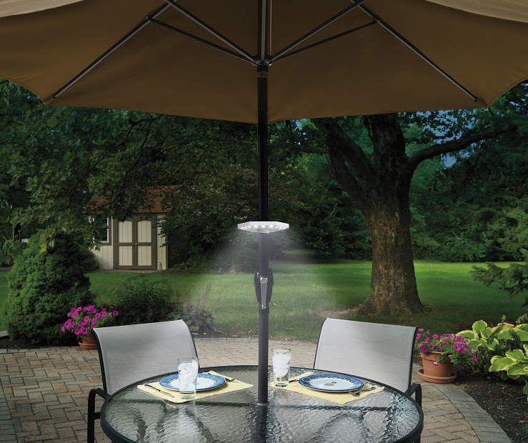 Wilson Fisher Led Battery Operated Umbrella Pole Light Outdoor Umbrella Stand Patio Umbrella Lights Patio
