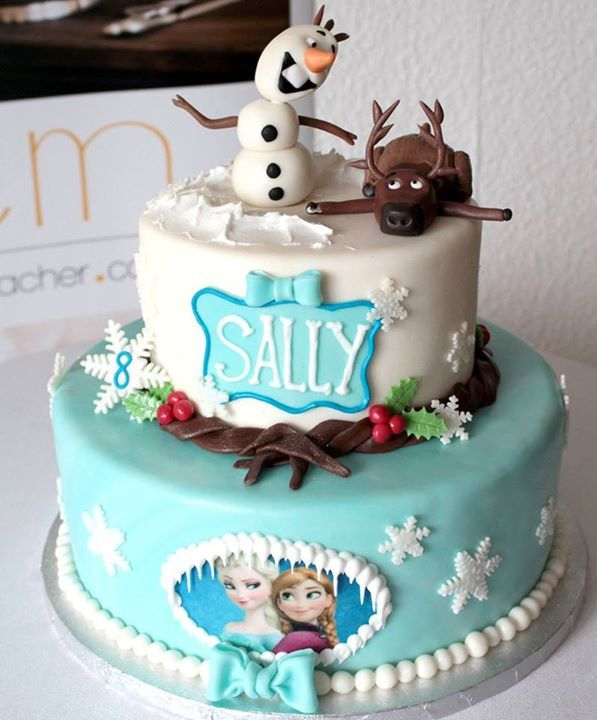 Amazing birthday cake or wedding cake with Frozen characters 3