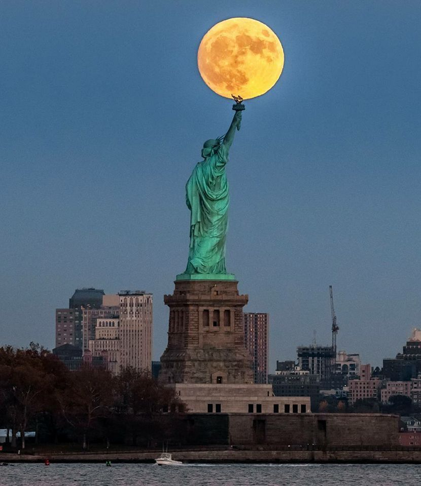 New York City supermoon 2016