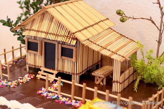 Bahay Kubo House Design Popsicle Sticks
