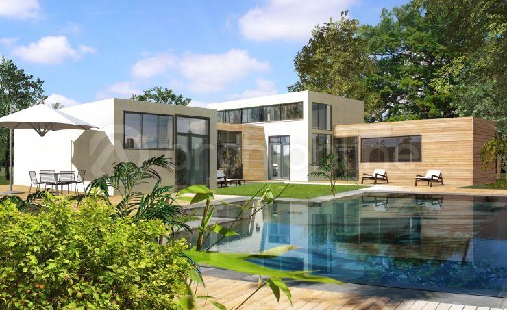 Maison Sapois - Plan de maison Moderne réalisé par les architectes - facade de maison moderne
