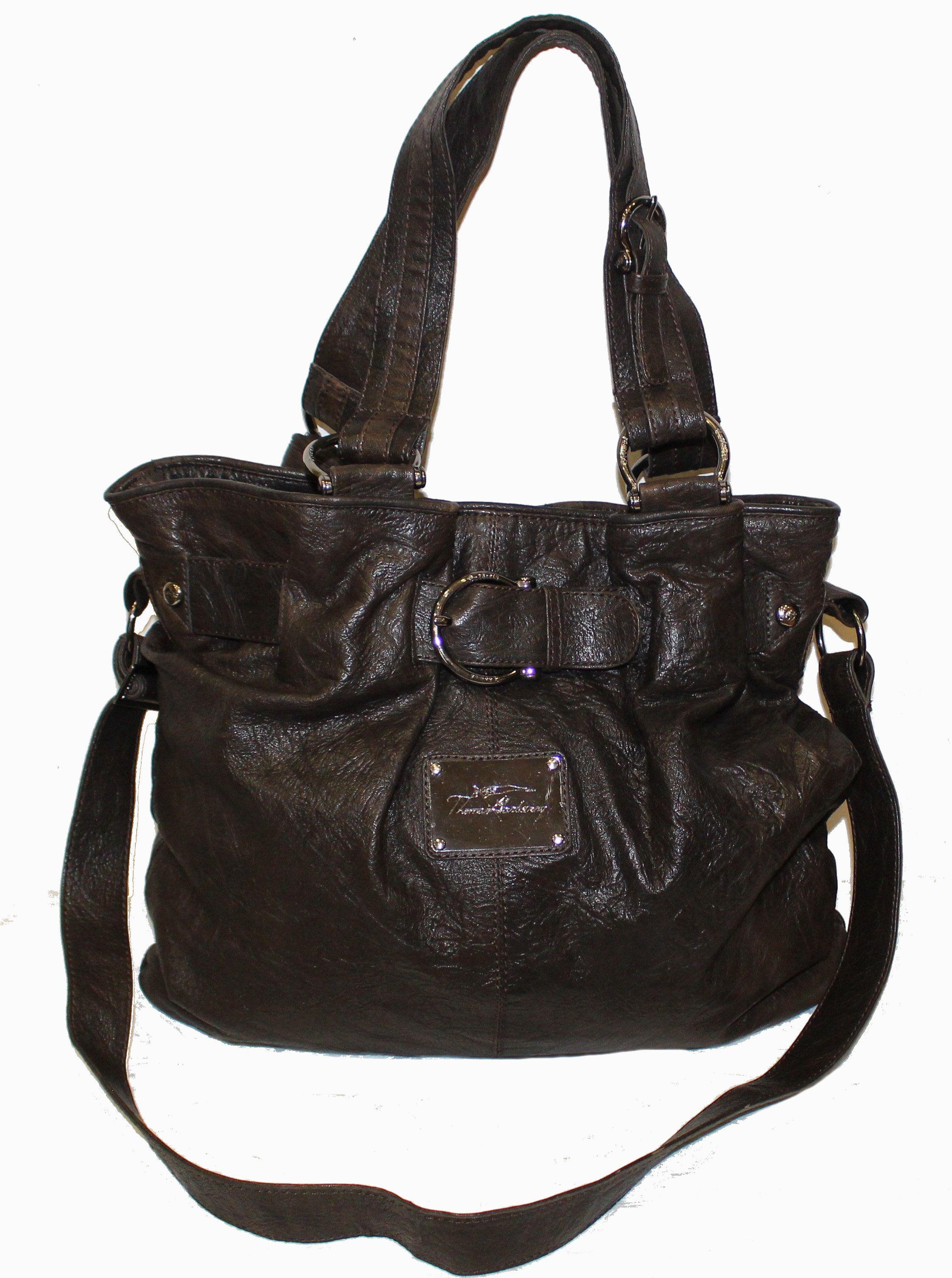 THOMAS BURBERRY XL Tasche Leder dunkelbraun   Taschen leder