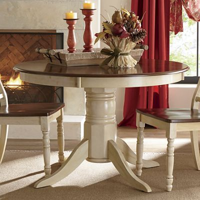 round dining table composite wood top wood base with antique style rh pinterest com