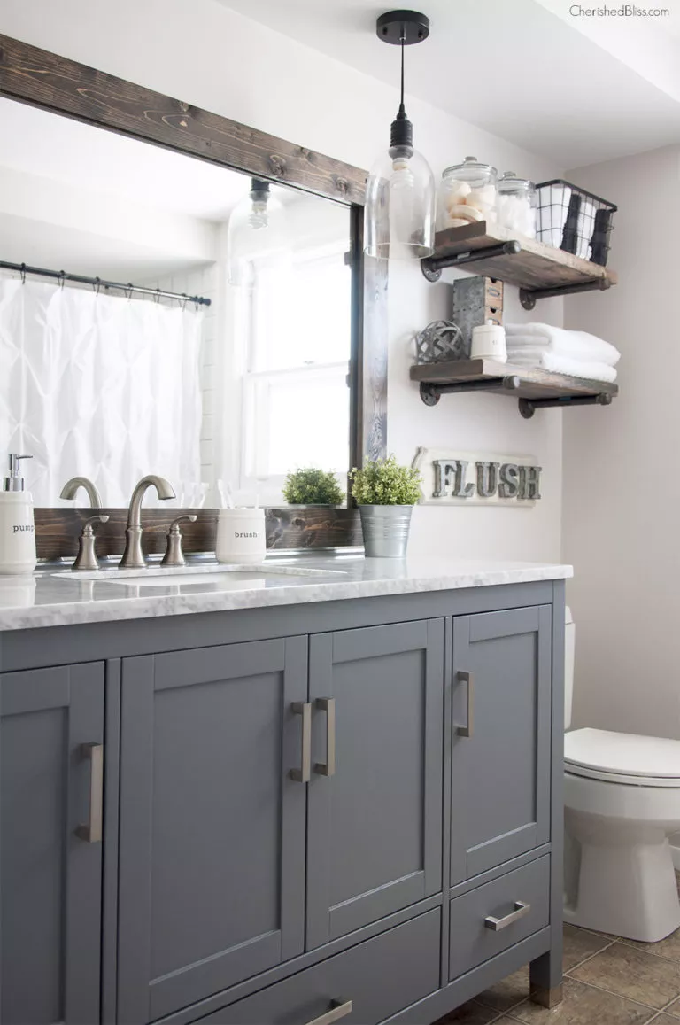 Get Inspired With These 17 Classic Gray and White Bathrooms
