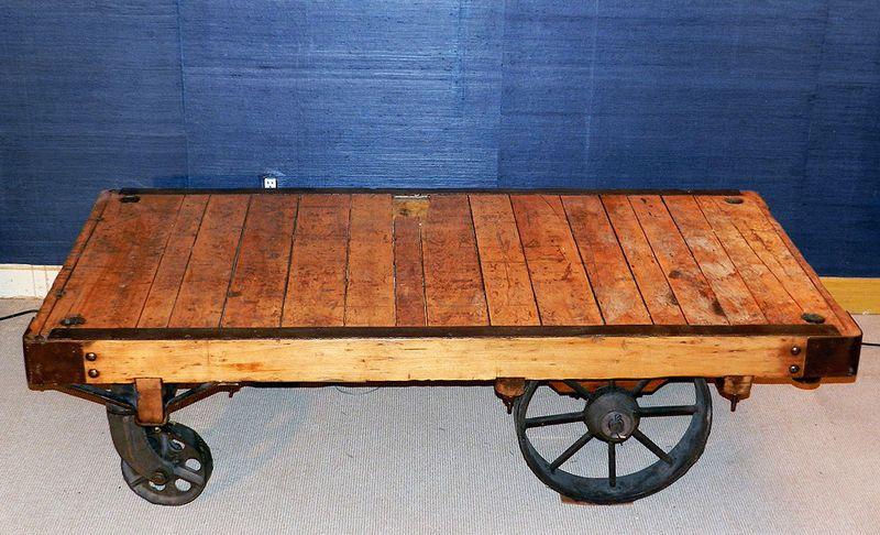 vintage industrial pallet rolling cart coffee table originally a rh pinterest com