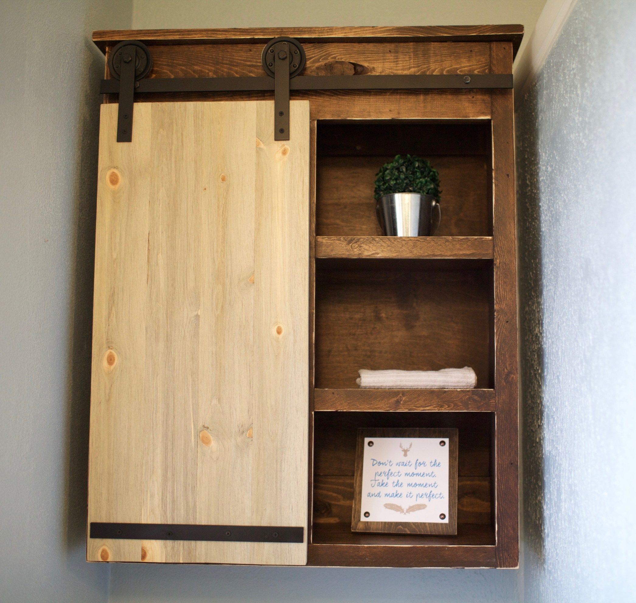 sliding barn door cabinet bathroom pinterest barn door cabinet rh pinterest ca