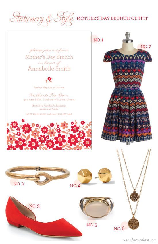 Stationery & Style: Mothe's Day Brunch Outfit