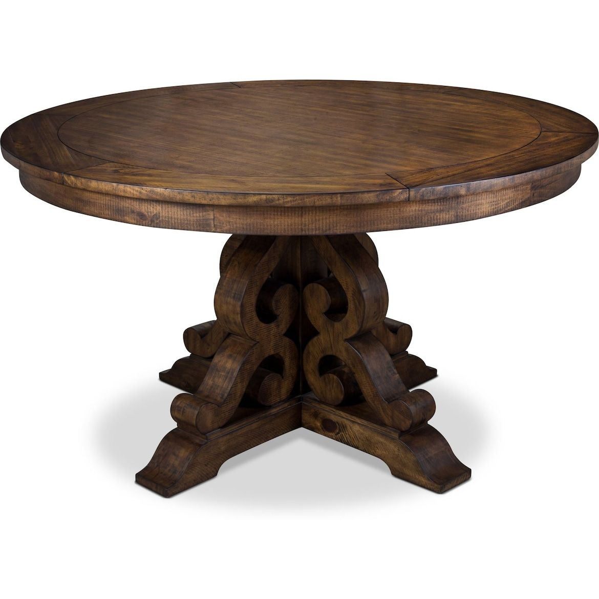 Charthouse Round Dining Table Nutmeg In 2020 Dining Table