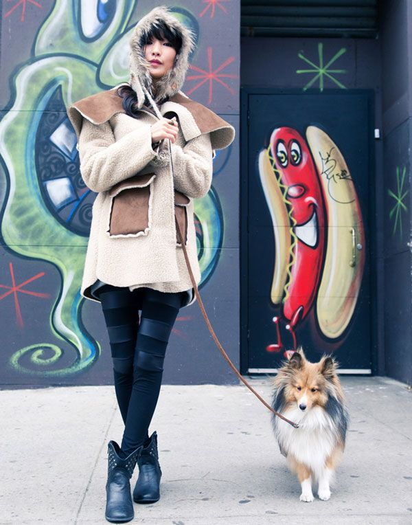 fashion blogger miss pouty + her pooch. via @Dogster & Catster