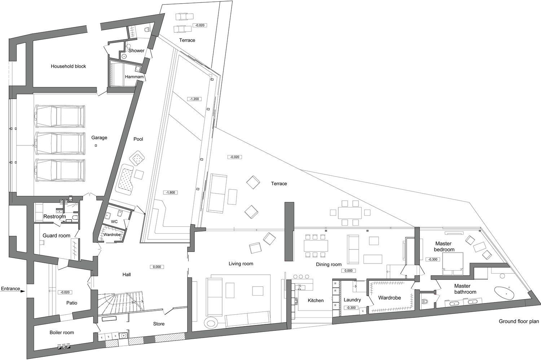 ribera planos de casas con piscina pinterest
