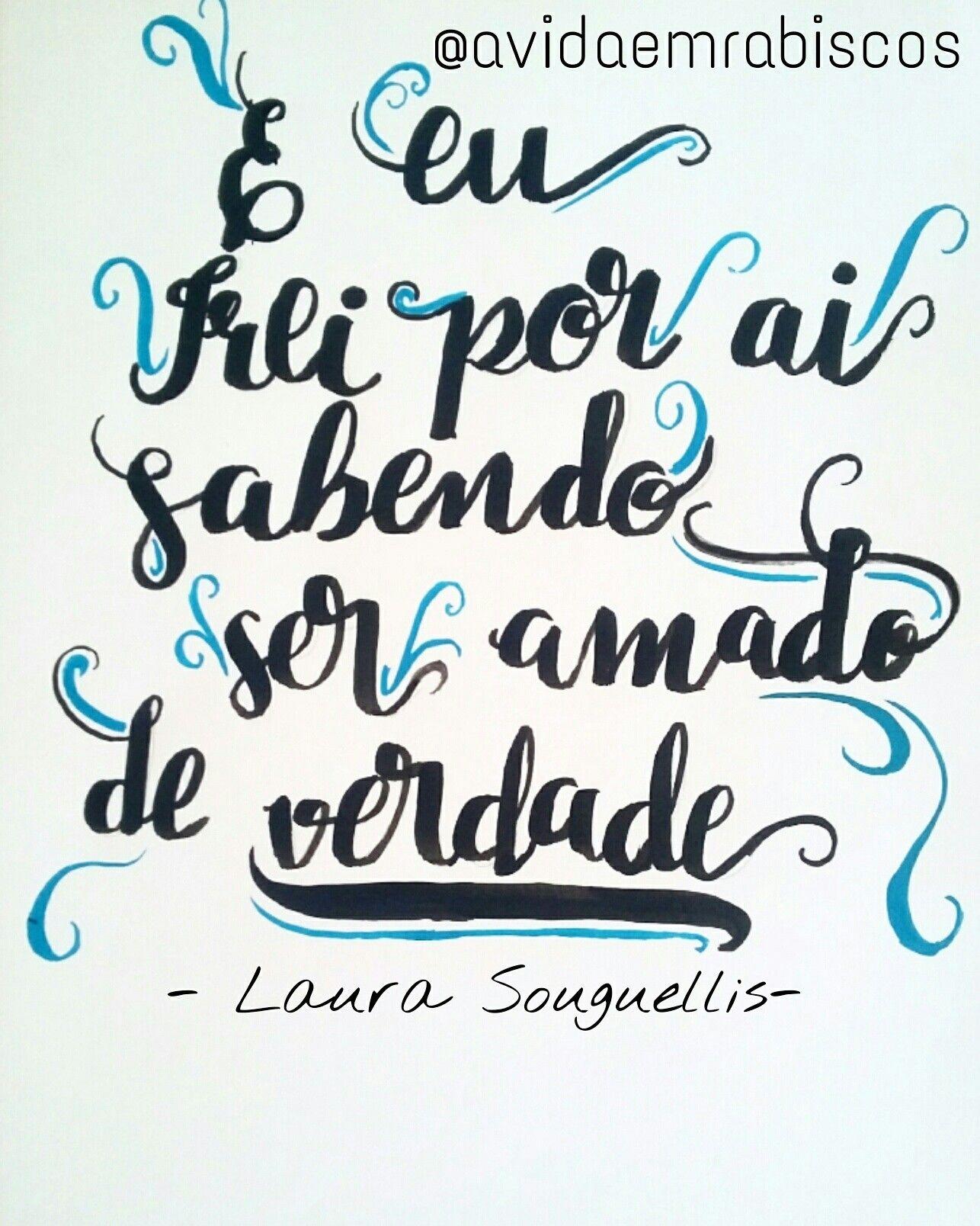 Lettering filho amado- Laura souguellis