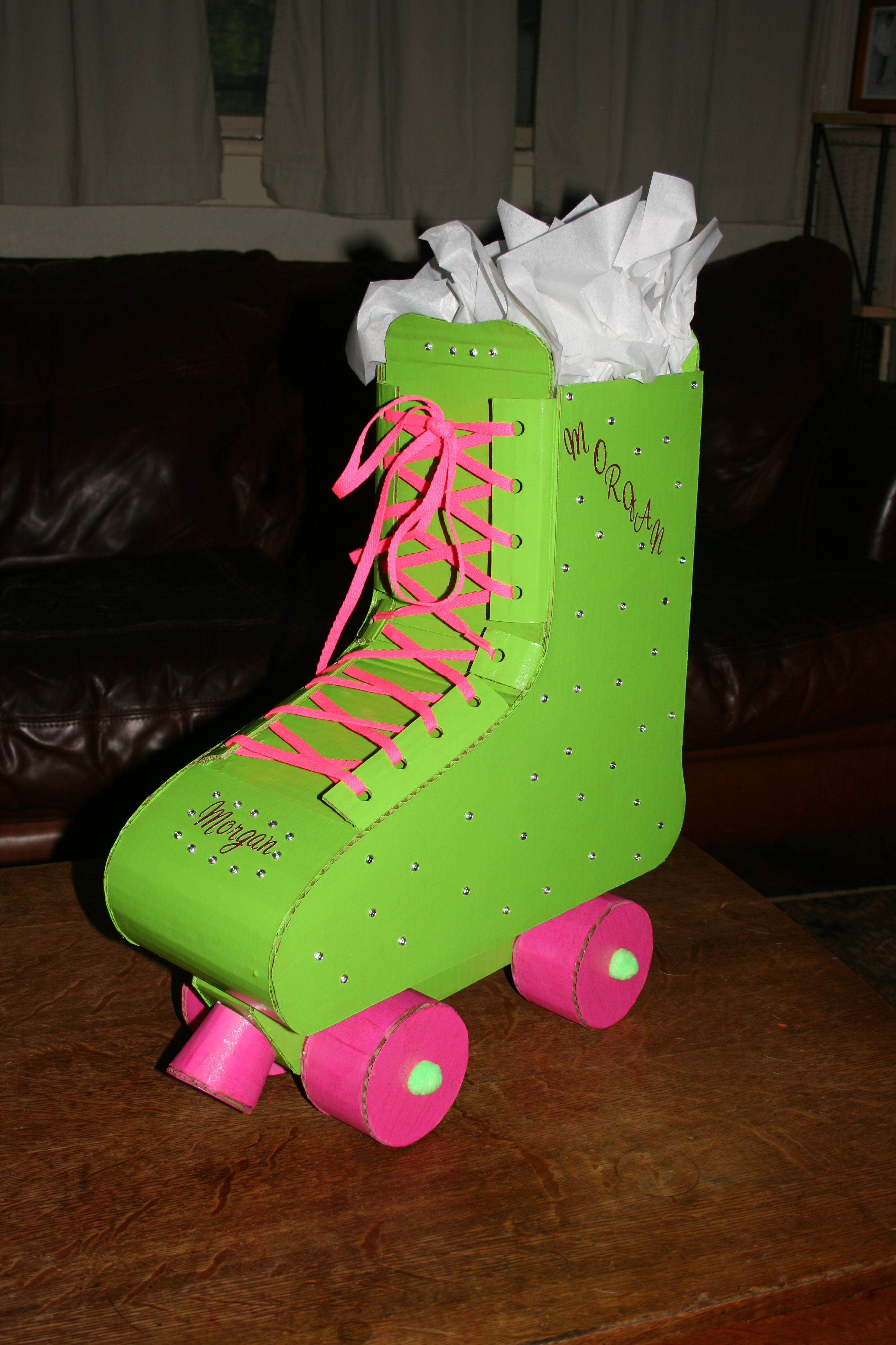 Roller skating vaughan - This Is A Gift Bag That I Made Out Of Cardboard For A Old Girl Having A Roller Skating Party If I Get Enough Pins I Will Give Instructions As To How