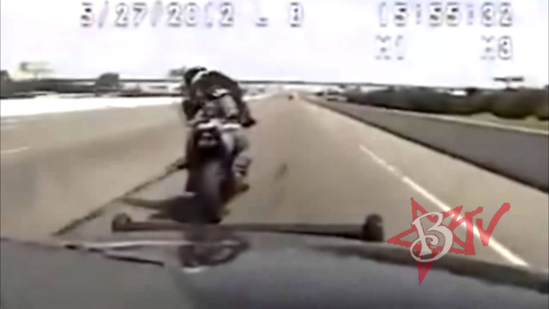 Police Chase Motorcycle Bike Vs Cop Actual Dash Cam Video