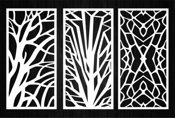 23 Decorative ornamental panel  Wall panels  Wood panel   CNC cut