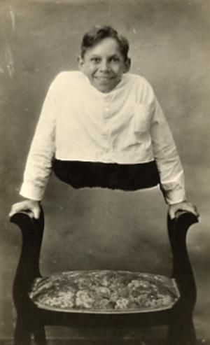 Johnny Eck, referred to by such stage names as the \'Half Boy,\' seen ...