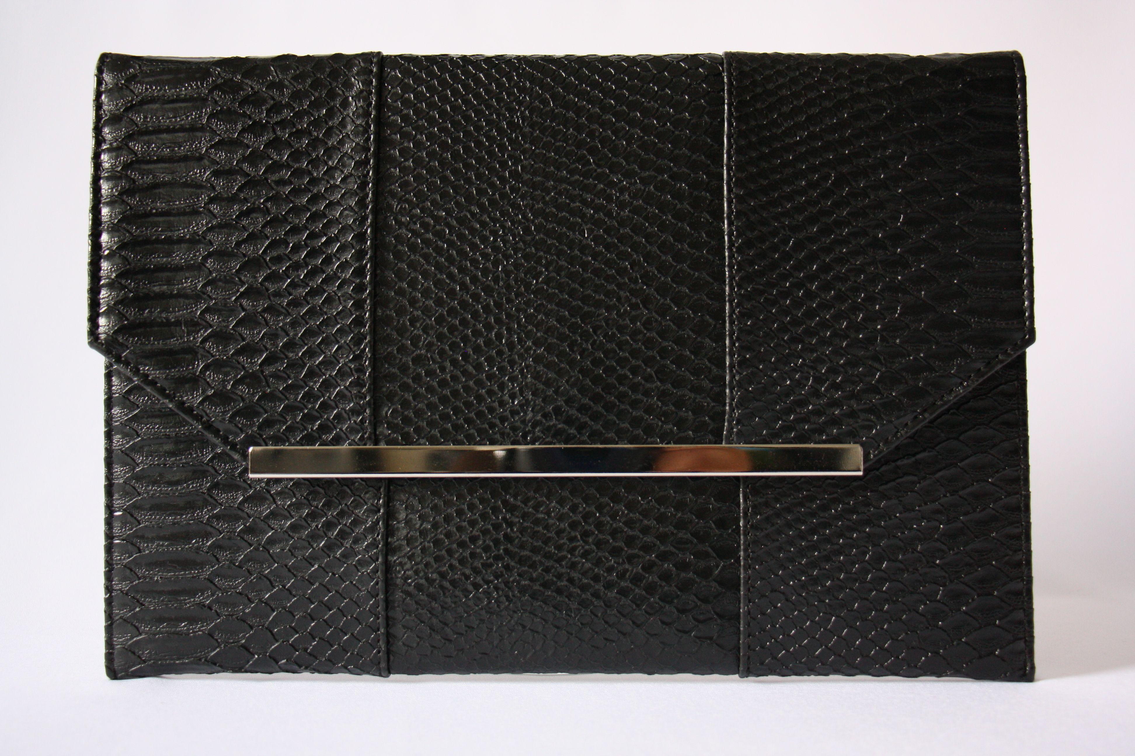 Grande Pochette Enveloppe Noire