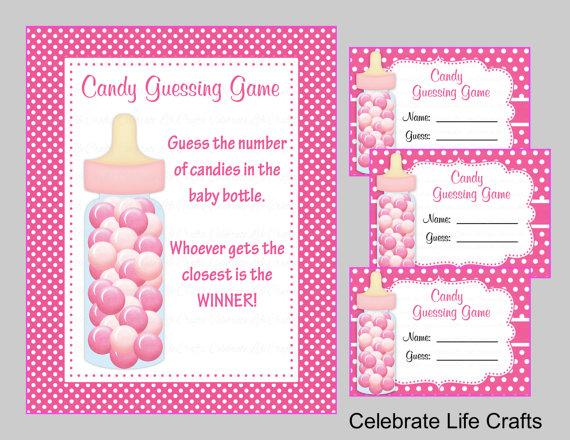 Baby Shower Printable Game Candy Jar Or Bottle Guessing Game Etsy Baby Shower Candy Baby Shower Printables Baby Shower Guessing Game