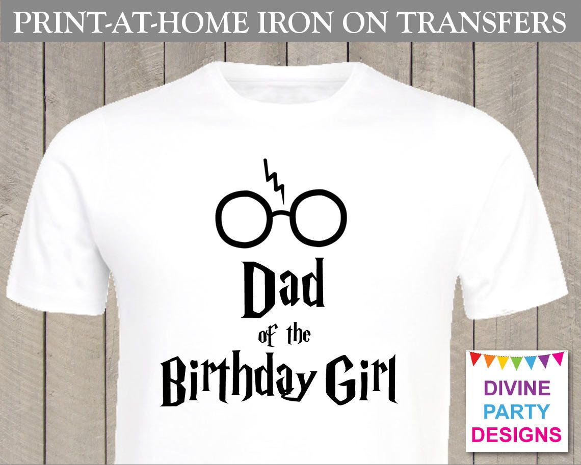 INSTANT DOWNLOAD Print at Home Harry P Dad of the Birthday Girl ...