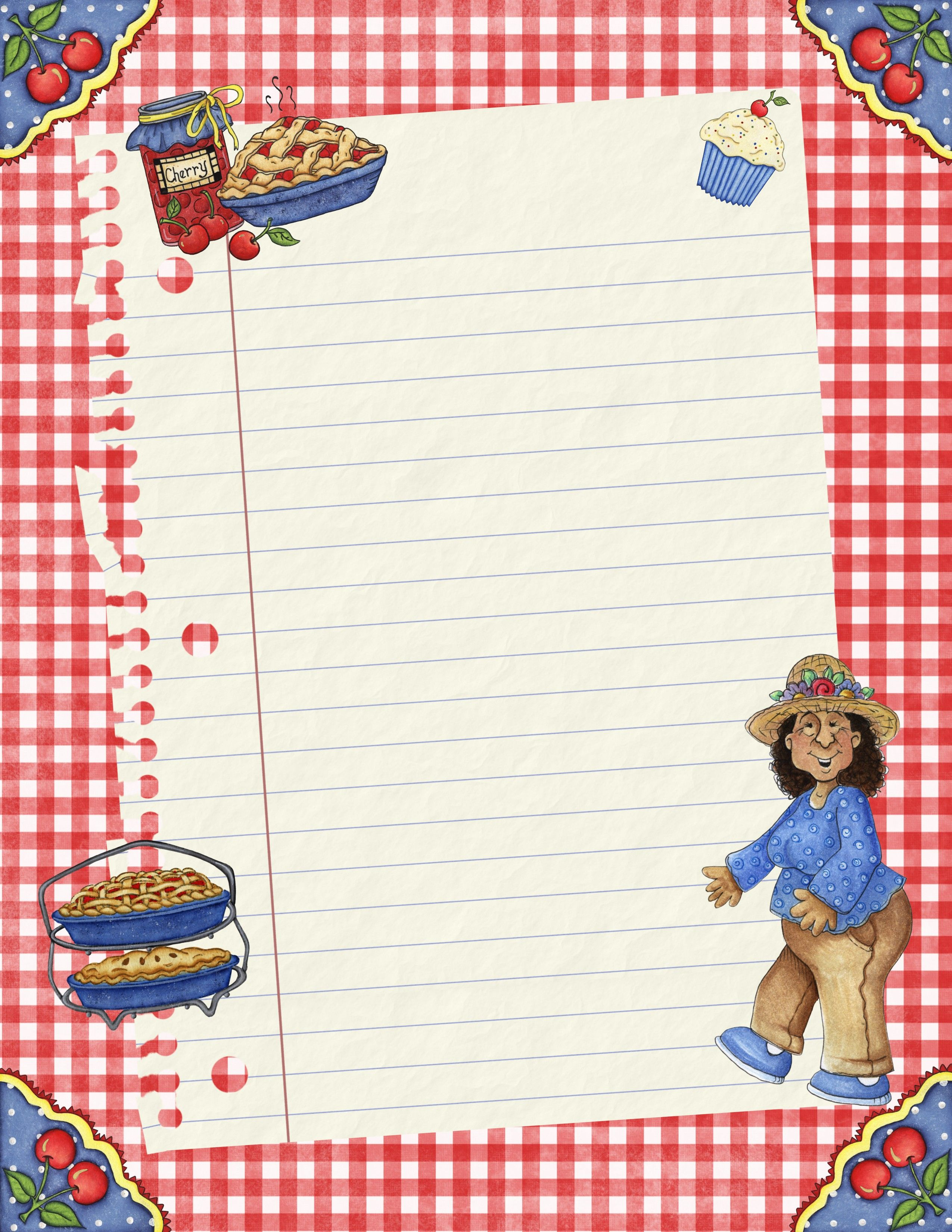 free blank recipe quick page recipe cards pages covers binder