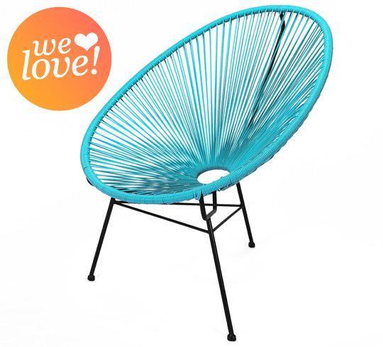 ce fauteuil acapulco bleu turquoise la fois vintage et. Black Bedroom Furniture Sets. Home Design Ideas