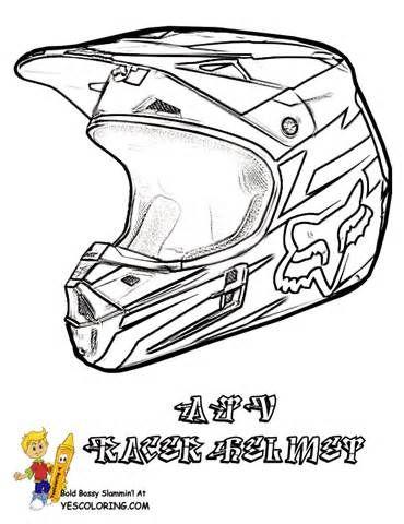 Dirt Bike Helmet Coloring Page Sketch Template Helmet Drawing
