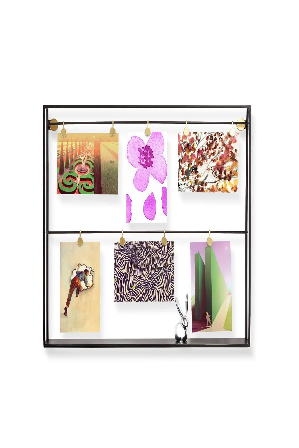 """Metal Photo Frame to hang your photos with clips.    Dimensions: 20 x 16 x 2½"""" (50.8 x 40.6 x 6.3 cm)   Trax Photo Display by Umbra. Home & Gifts - Home Decor - Frames Massachusetts"""
