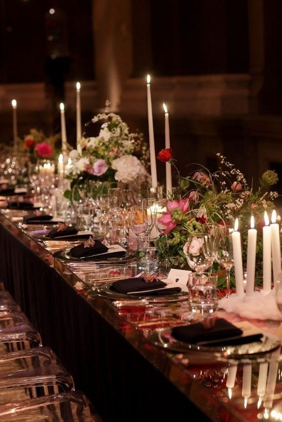 wedding reception locations nyc%0A Romantic candlelight reception settings for NYC wedding    www christianOthStudio com