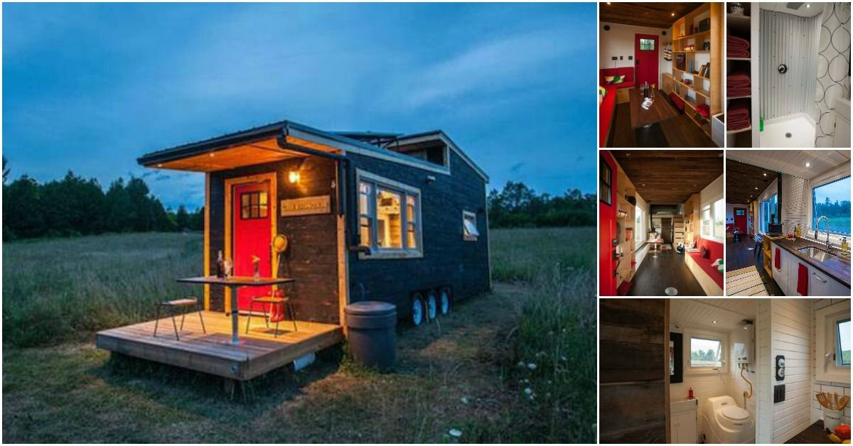 We Have Seen All Kinds Of Cool Features On Tiny Houses Around The World Including Some Super Innovative Doors Windows And Decks Tiny House Appliances Tiny House Cabin Tiny House Trailer