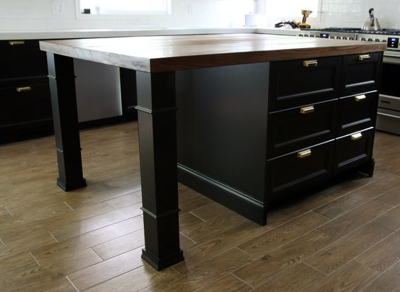 customizing our ikea kitchen island kitchen islands diy ikea rh pinterest co uk