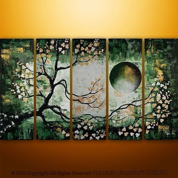 I found 'CUSTOM PAINTING Abstract Modern Landscape Tree Asian Art by Gabriela 50x30 Large' on Wish, check it out!