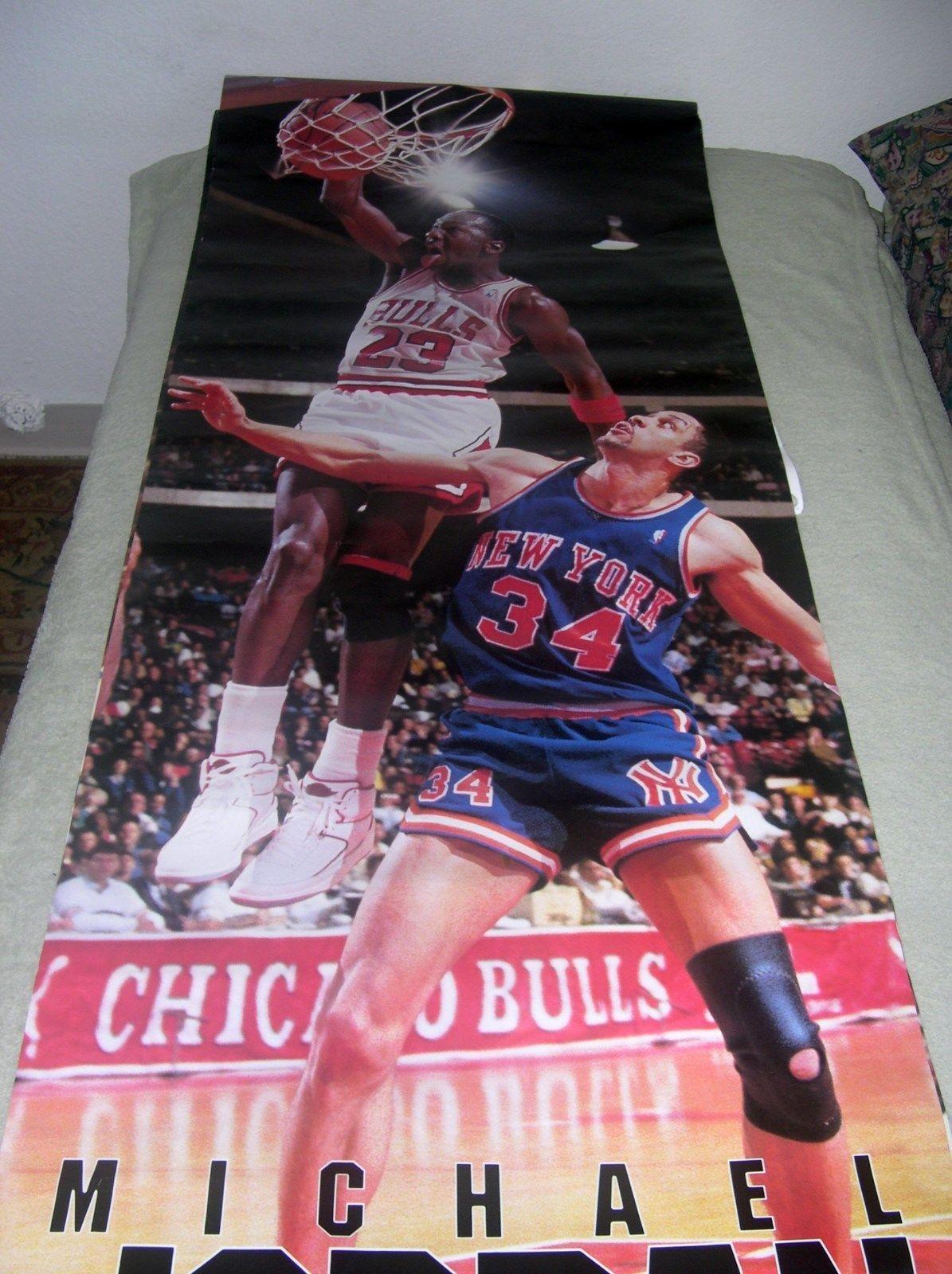 Vintage Michael Jordan Poster Nba Basketball Memorabilia Sport Chicago Bull Essay On
