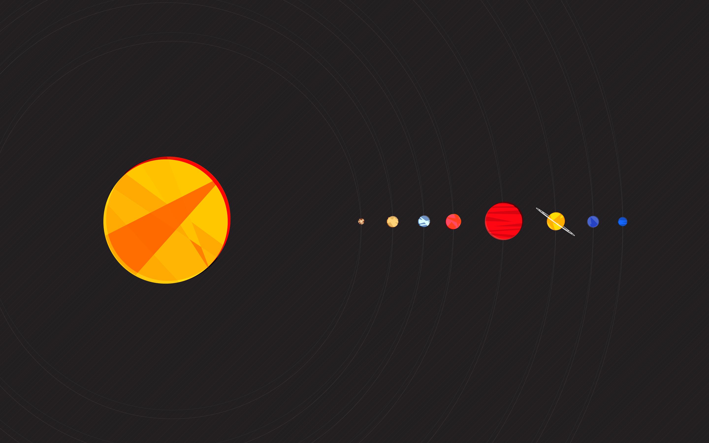 Hd Solar System Wallpaper Minimalist Wallpaper Desktop
