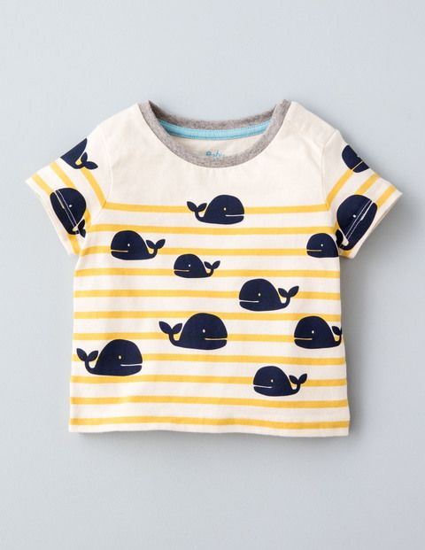 Stripy Logo T Shirt 71537 Graphic T Shirts At Boden Graphics