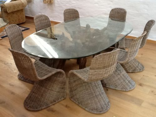 1 8 X 1 2m Oval Teak Root Table Root Table Oval Table Dining Dining Table