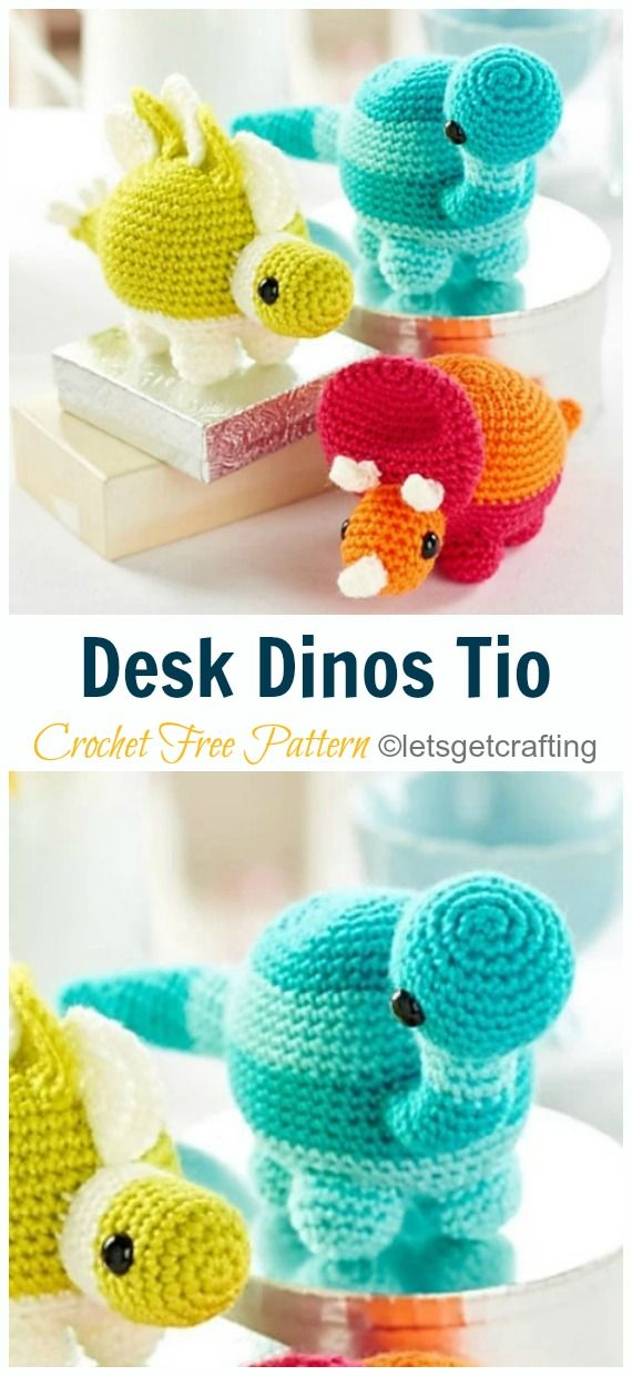 Amigurumi Dinosaur Free Crochet Patterns #crochetdinosaurpatterns