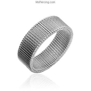 316L Stainless Steel Flexible Screen Ring #mspiercing #piercings