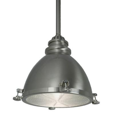 home decorators collection 1 light brushed nickel ceiling metal dome pendant 25397 - Home Decorators Collection Lighting