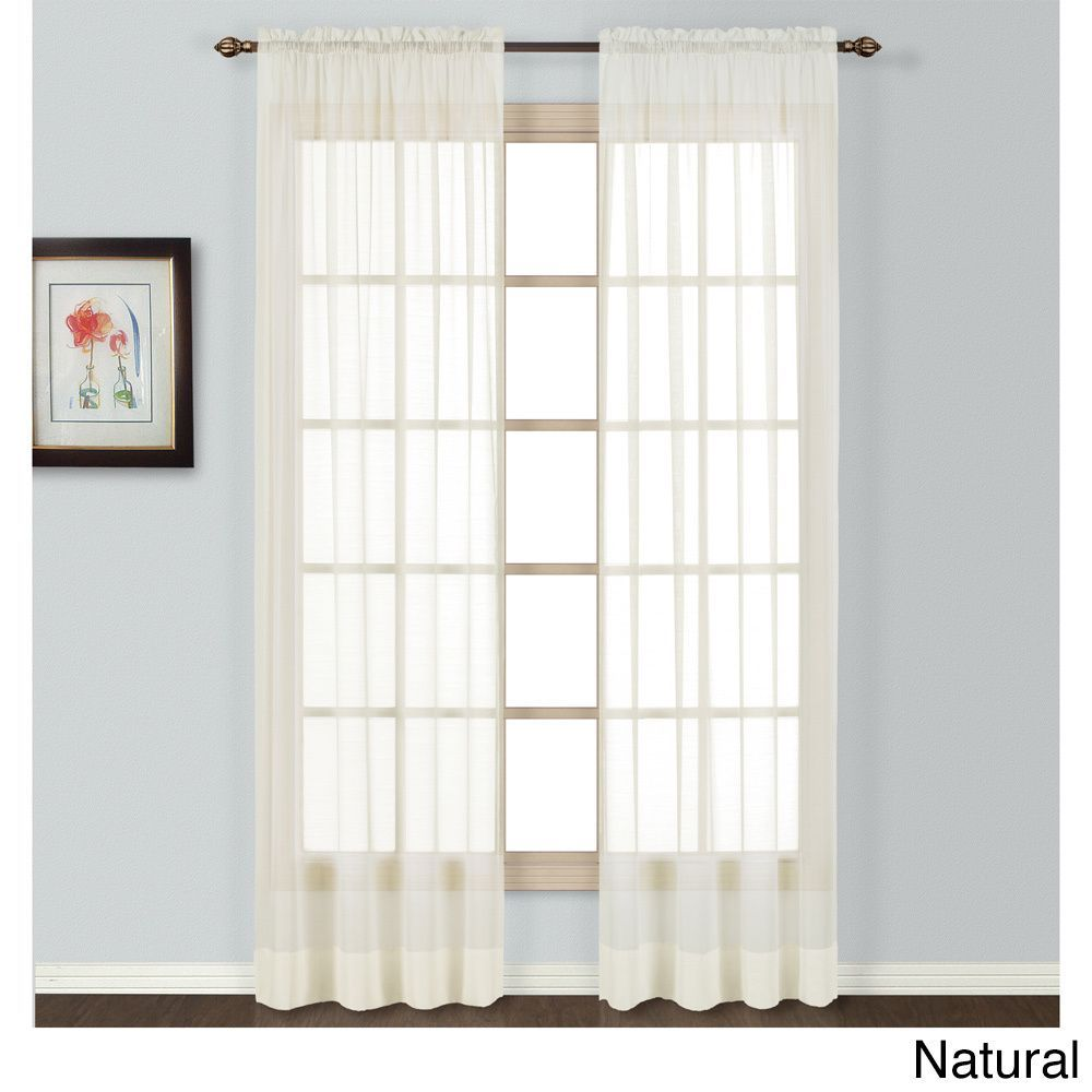 Luxury Collection Batiste Semi Sheer Single Curtain Panel Panel