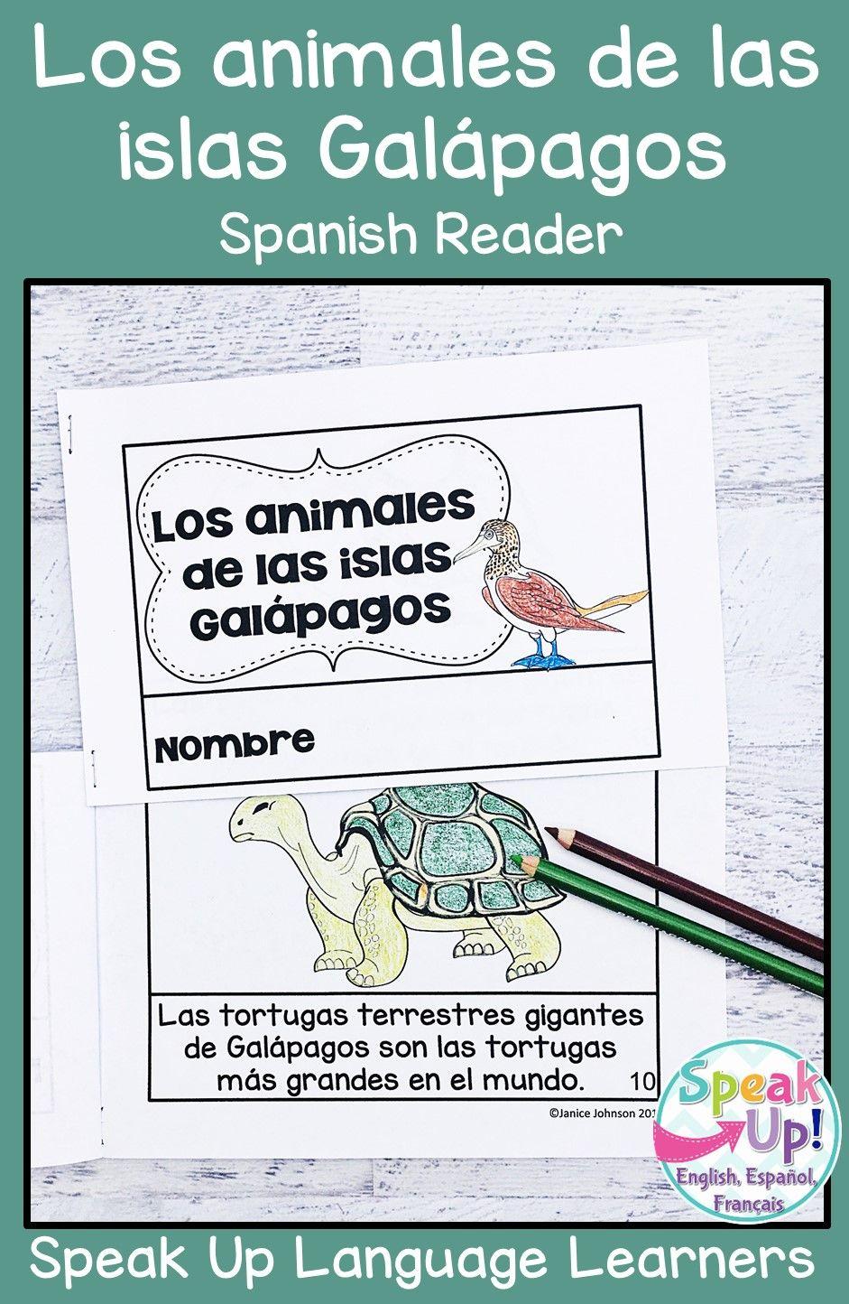 Los Animales De Las Islas Galapagos Reader Comprehension Activities En Espano Galapagos Islands How To Speak Spanish Spanish Speaking Countries Activities [ 1444 x 941 Pixel ]