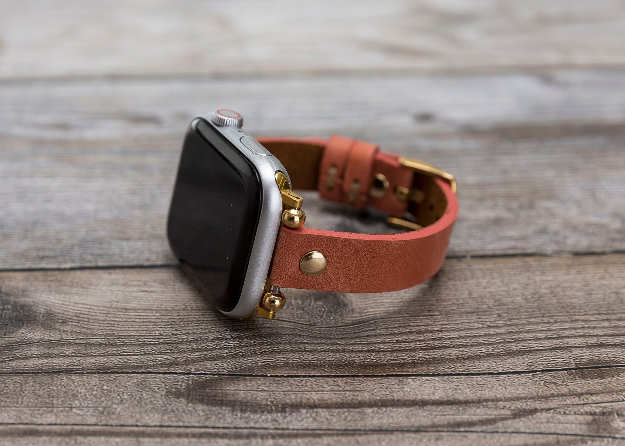 Leather Slim Apple Watch Band 38mm 40mm Women Apple Watch Etsy Apple Watch Bands Leather 38mm Apple Watch Band Apple Watch Leather