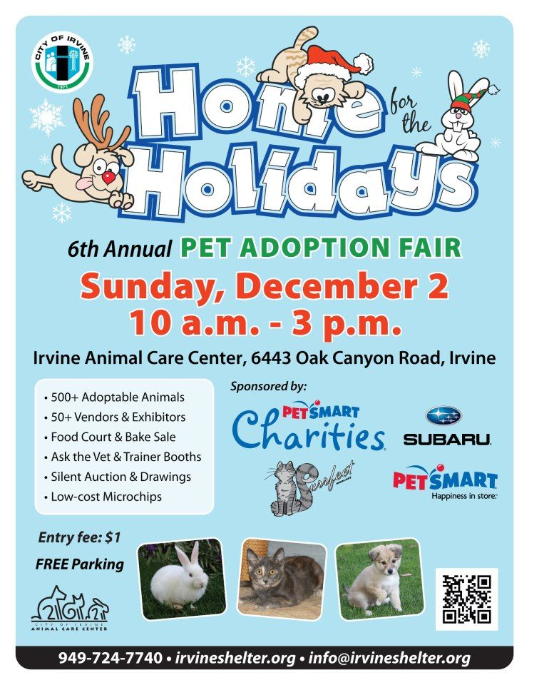 Join Us For Our 6th Annual Home For The Holidays Pet Adoption Fair On Sunday December 2 Animal Shelter Fundraiser Animal Rescue Fundraising Pet Adoption Event