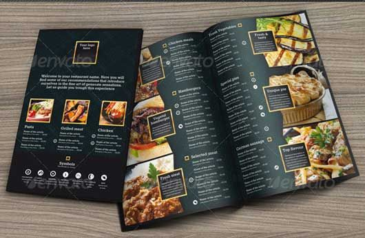 Great Restaurant Food Menu Print Templates   Food Menu