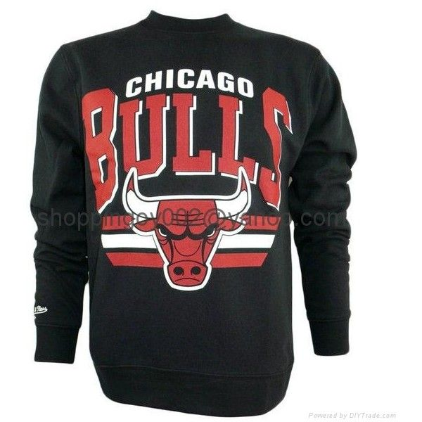 newest collection 20409 6fc1a Cheap NFL NBA Chicago Bulls Mitchell Ness Stadium Crew Neck Sweatshirt... ❤  liked on Polyvore