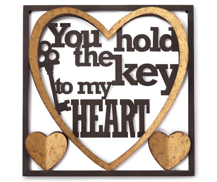 Key To My Heart Metal Heart Wall Decor At Big Lots Wall Art