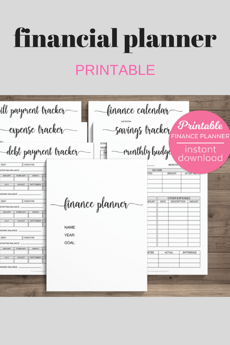 finance planner printable budget planner expense tracker