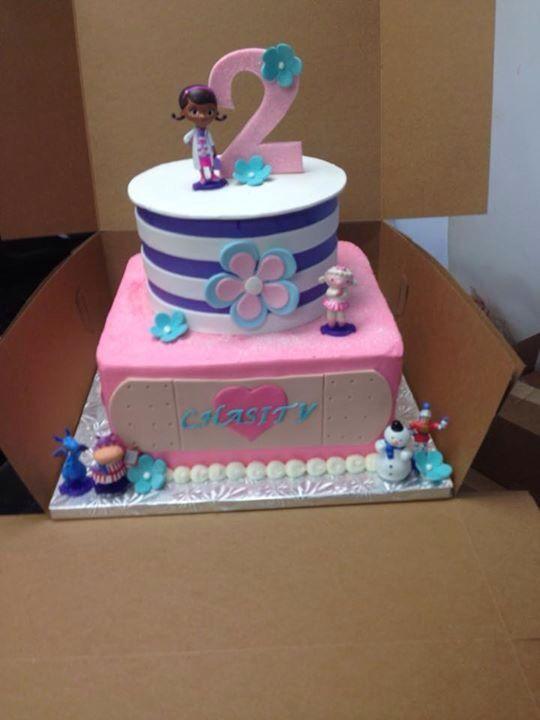 Sensational Doc Mc Stuffings Buttercream Cake Doc Mcstuffins Birthday Cake Funny Birthday Cards Online Inifodamsfinfo