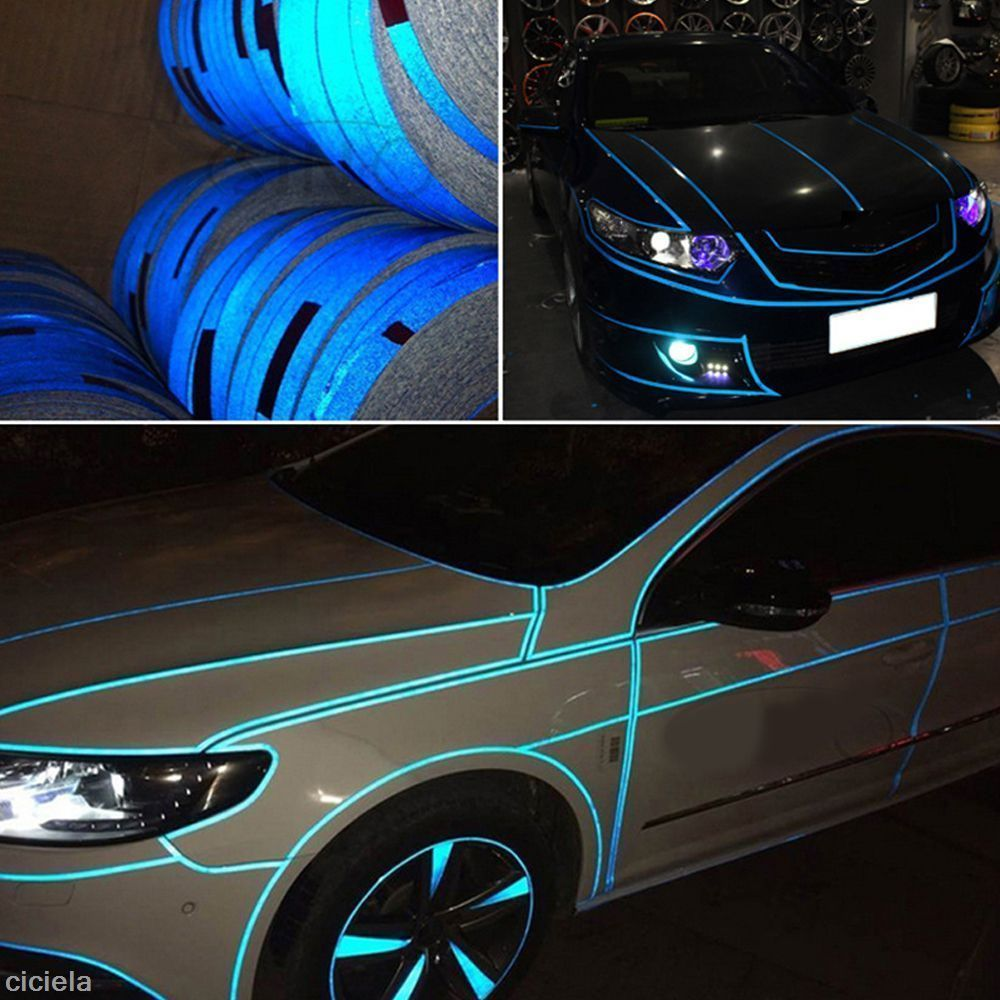 1 Roll Car Joint Strip Stickers Reflect Light Truck Warning Pvc Decal Decoration Car Rolling Car Night Reflective [ 1000 x 1000 Pixel ]
